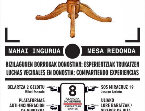 Bizilagunen  borrokak  Donostian:  Esperientziak  trukatzen